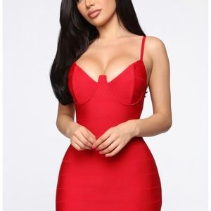 Playful Night Bandage Dress- Fashion Nova